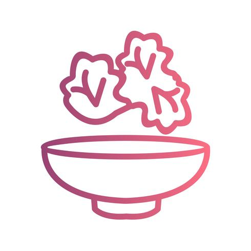 Vektor sallad ikon