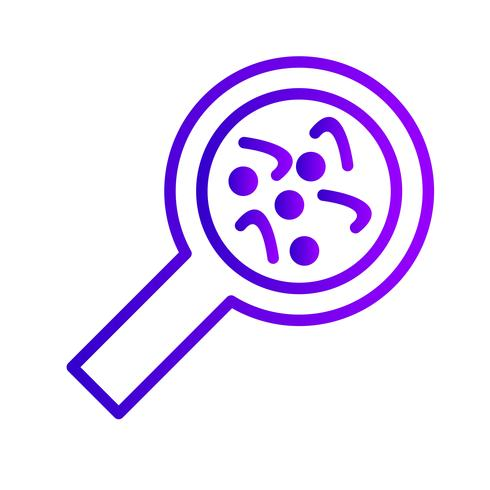 Ícone de bactérias vetoriais