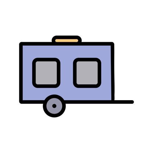 Icône de wagon de vecteur