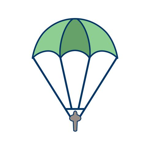 Icono de paracaidista ilustración vectorial