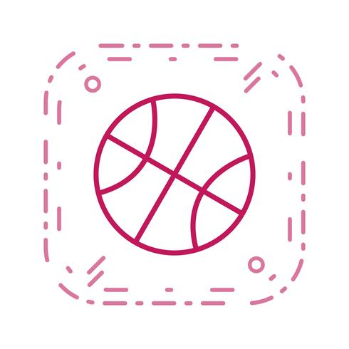 Basketball Icon Vector Illustration