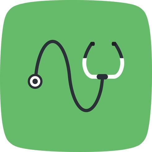 Icona di vettore stetoscopio