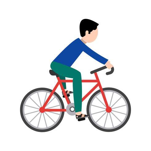 Cyclist Icon Vector Illustration