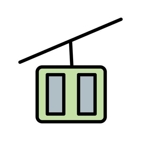 Icône de télésiège de vecteur