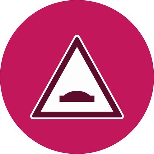 Icône de panneau de signalisation de pont de bosse de vecteur