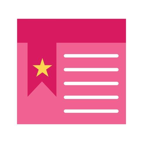 Ícone de página marcada de vetor