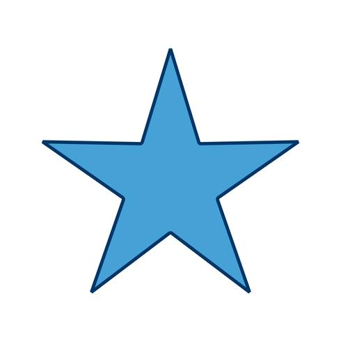 stjärna ikon vektor illustration