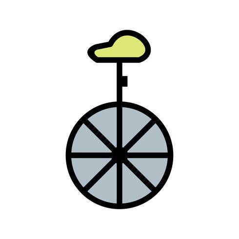 Ícone de monociclo de vetor