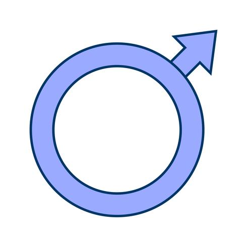 Icona del maschio vettoriale