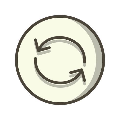 Ladda om ikon vektor illustration