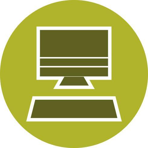 Illustrazione di vettore icona del computer