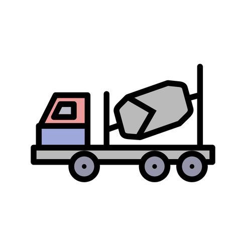 Icône de bétonnière de vecteur