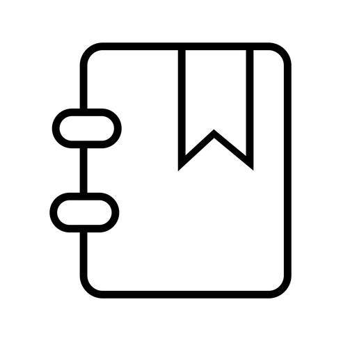 Vector Bookmarked Icon