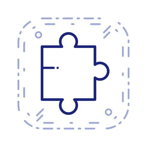 icono de pieza de rompecabezas de vector