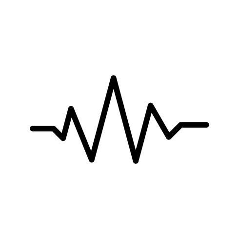 Icono de sonido Beats ilustración vectorial
