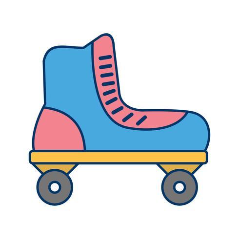 Roller Skate Icon Vector Illustration