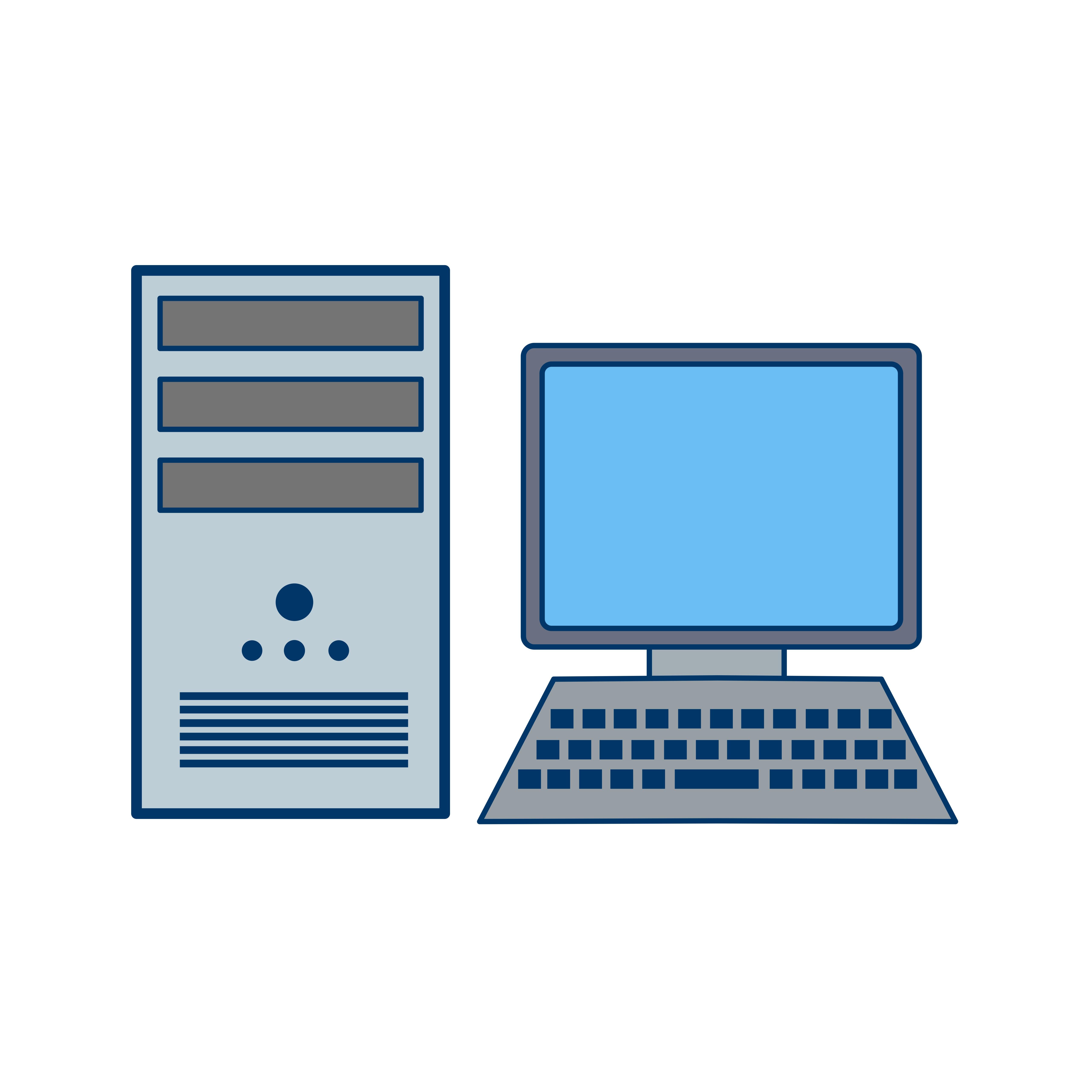 Computer Icon Vector Illustration - Download Free Vectors, Clipart Graphics & Vector Art