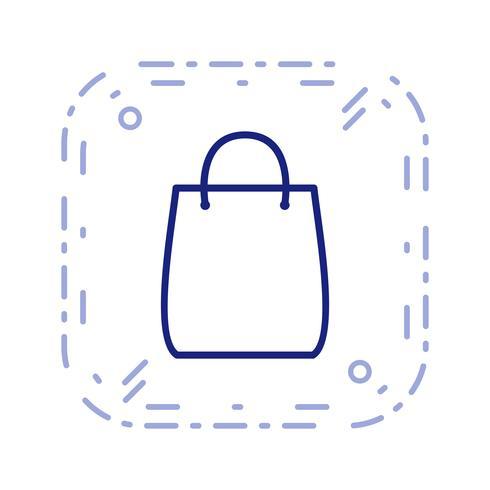 Ilustração em vetor ícone saco de compras