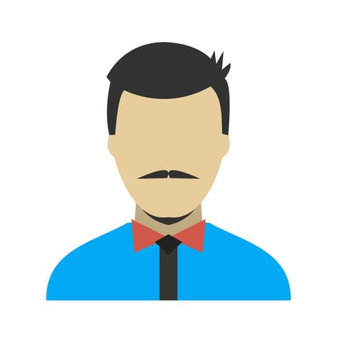 Avatar pictogram vectorillustratie