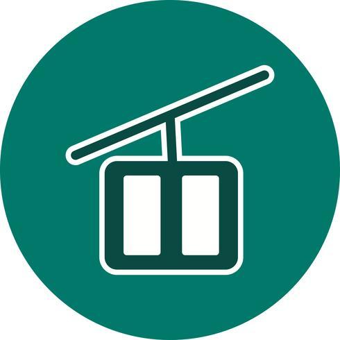 Vektor-Sesselbahn-Symbol