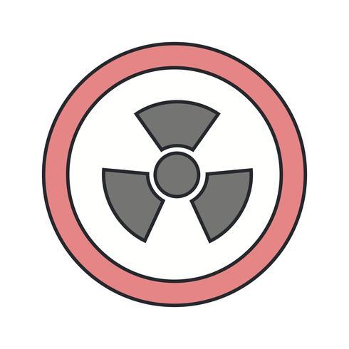 Vector Radio Active Road Sign Icon