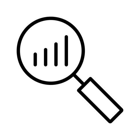 Ícone de análise vetorial