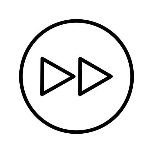 Voorwaartse pictogram vectorillustratie