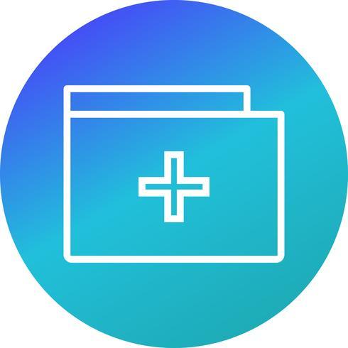 Icône de dossier médical de vecteur