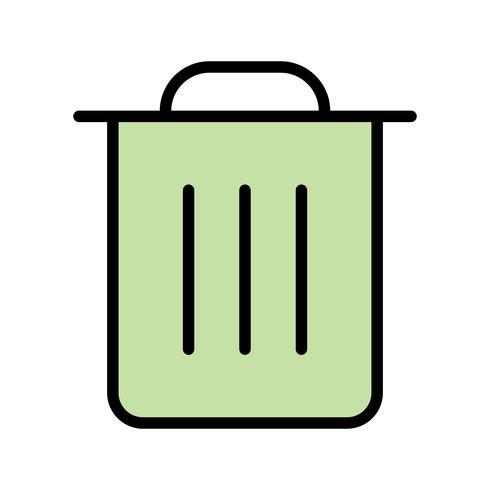 Illustrazione di vettore dell'icona dell'immondizia