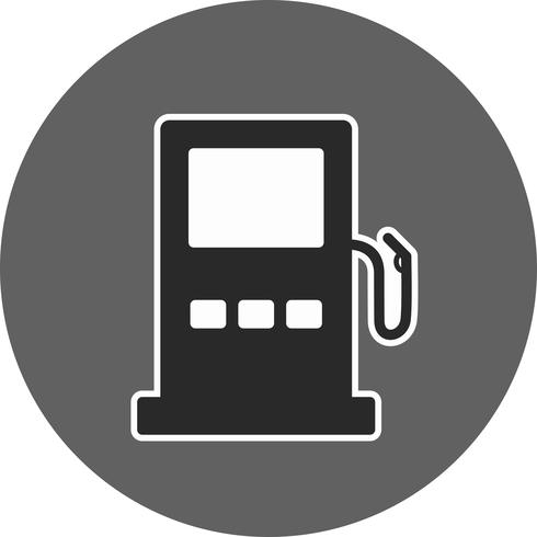 Vector Filling Station Road Sign Icon