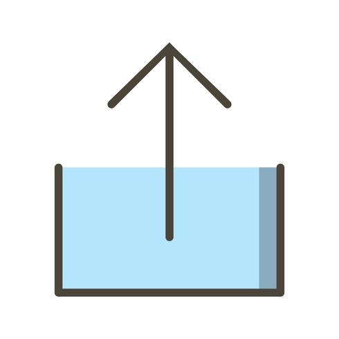Subir icono de ilustración vectorial