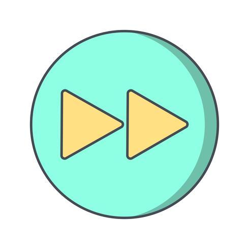 Ilustração em vetor ícone frente