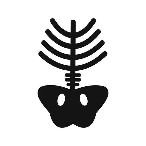 Icona dei raggi x vettoriale