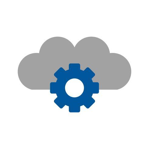 Vector Cloud Settings Icon