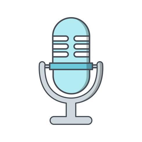 Illustration vectorielle icône de microphone