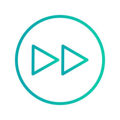 Framåt ikon vektor illustration