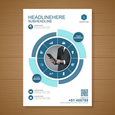 Zakelijke dekking a4 sjabloon voor een rapport en brochureontwerp, flyer, banner, folders decoratie voor afdrukken en presentatie vectorillustratie vector