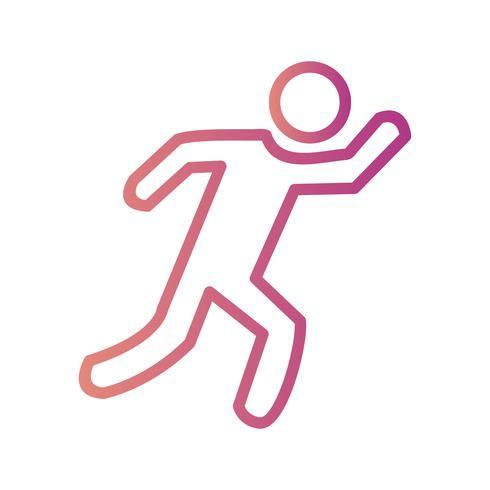löpare ikon vektor illustration