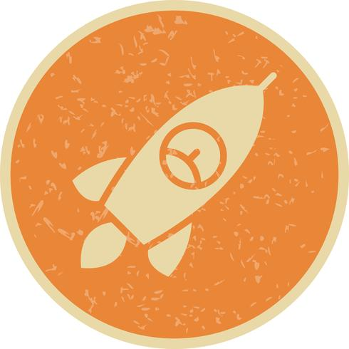 Ícone de foguete de vetor