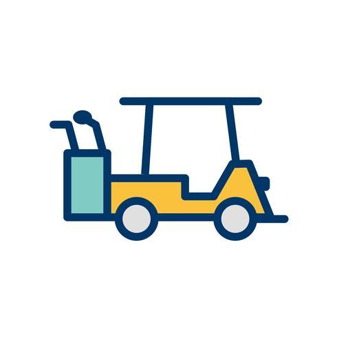Icône de voiturette de golf de vecteur