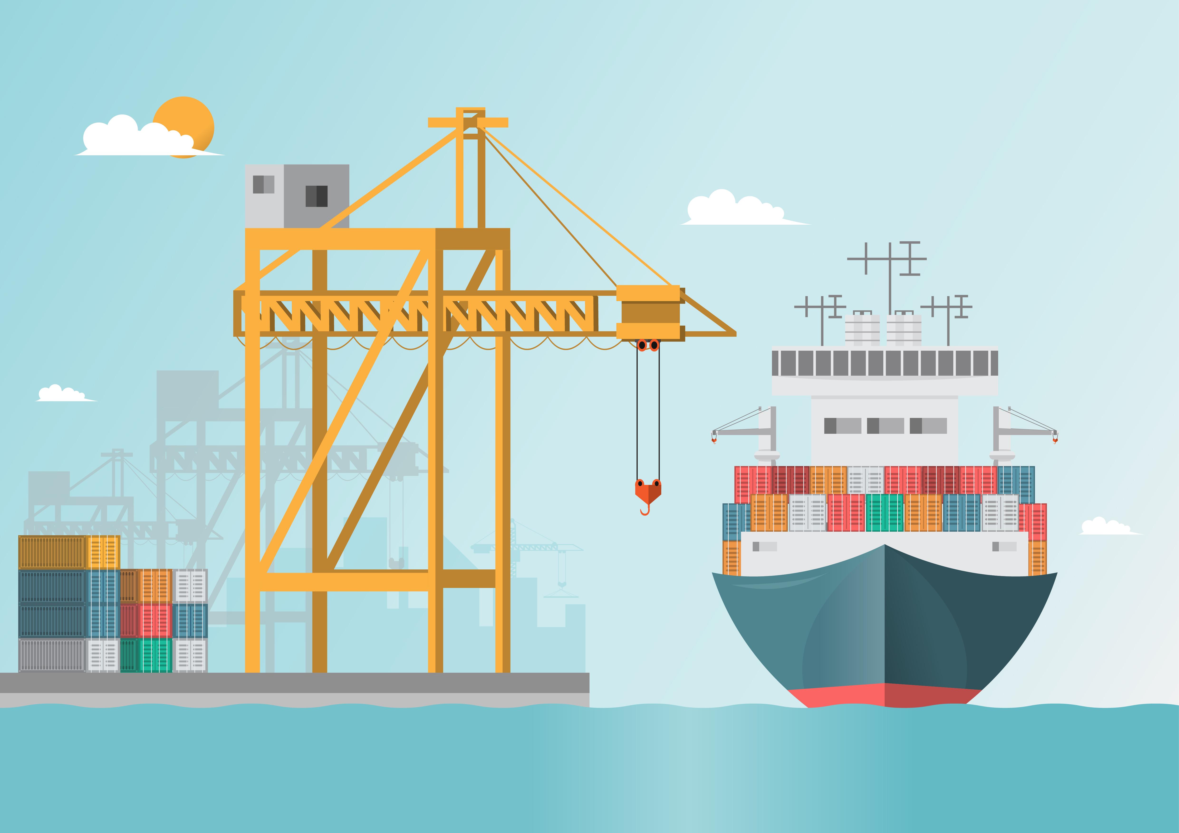 Морской порт картинки для презентации