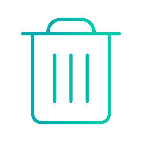 Abfall-Ikonen-Vektor-Illustration