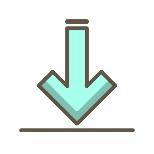 Vector downloadpictogram