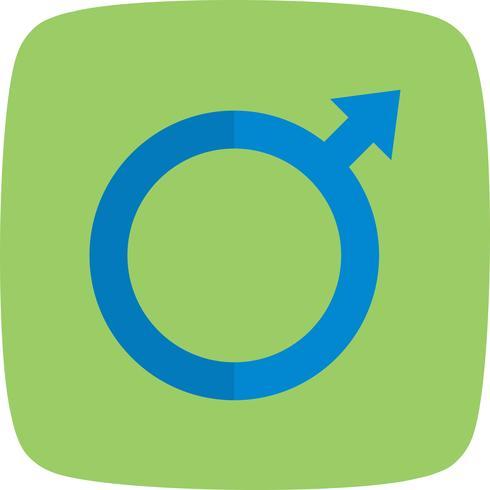 Vector icono masculino
