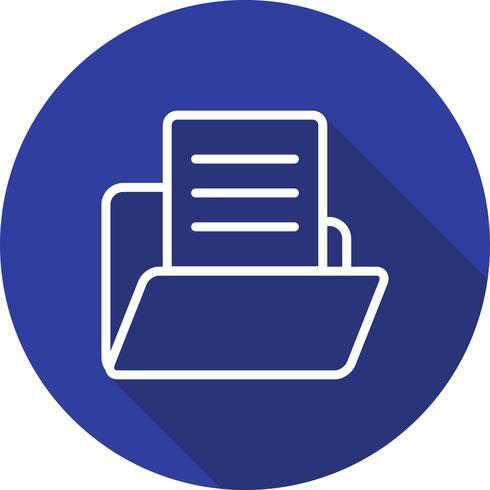 Vector Document in Folder Icon