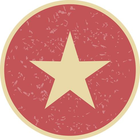 Estrela, vetorial, ícone, ilustração