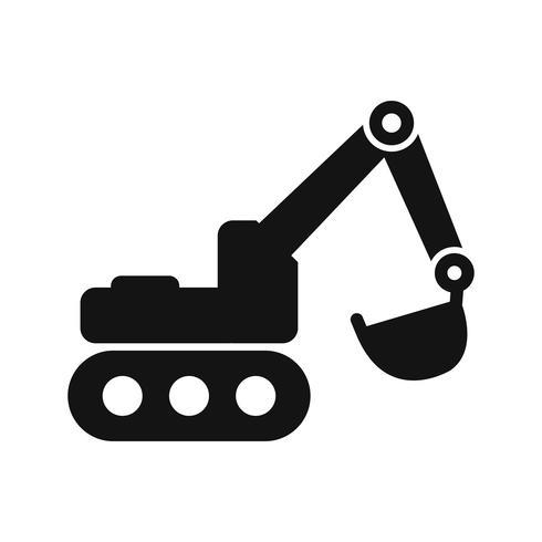 Ícone de escavadeira de vetor