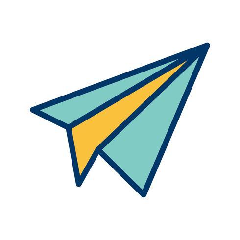 Illustrazione di vettore dell'icona dell'aereo di carta