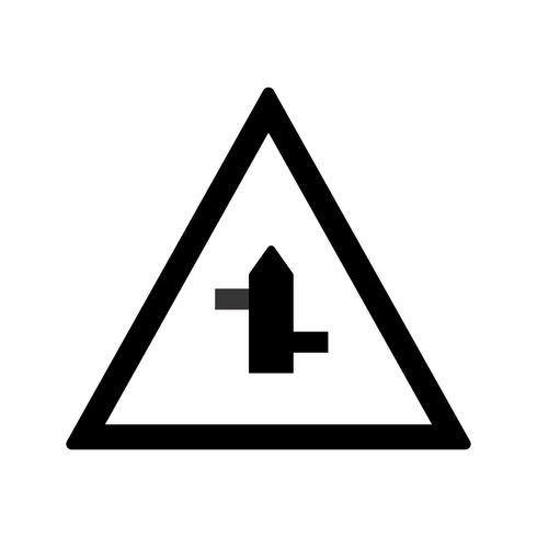 Vector Minor cross roads da sinistra a destra Icona del segno di strada