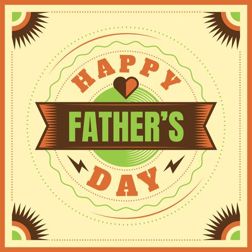 Happy father's day card design vector